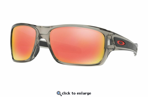 Oakley Turbine Sunglasses Grey Ink w/Ruby Iridium Polarized