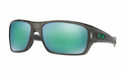 Oakley Turbine Sunglasses Grey Smoke w/Jade Iridium Polarized