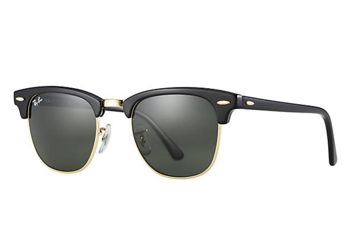 e4431794022 Ray-Ban Clubmaster Classic Sunglasses with Black   Tortoise Frame Green  Classic G-15 Lens