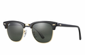 Ray-Ban Clubmaster Classic Sunglasses with Black & Tortoise Frame/Green Classic G-15 Lens