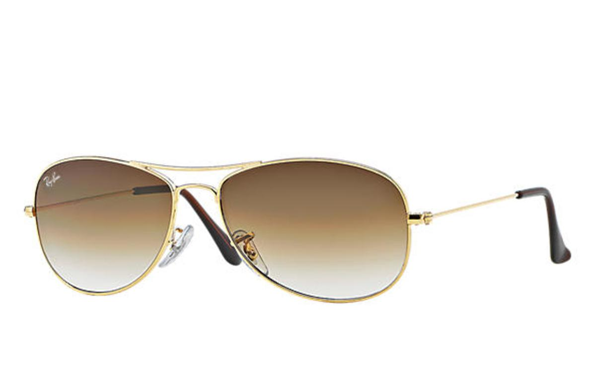 9d24d02498 Ray-Ban Cockpit Sunglasses with Gold Frame Light Brown Gradient Lens - The  Warming Store
