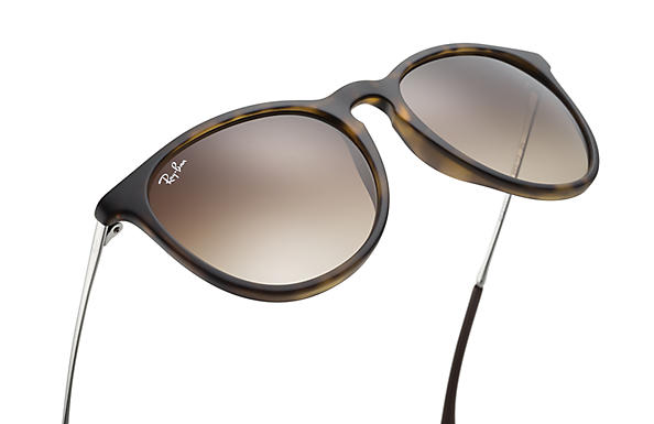 cbb77bb58f Ray-Ban Erika Classic Sunglasses with Tortoise Gunmetal Frame Brown  Gradient Lens - The Warming Store