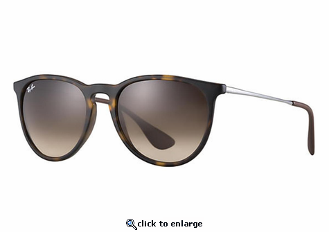 Ray-Ban Erika Classic Sunglasses with Tortoise/Gunmetal Frame/Brown Gradient Lens