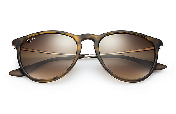 4898e06d621 Ray-Ban Erika Classic Sunglasses with Tortoise Gunmetal Frame Brown  Gradient Lens - The Warming Store