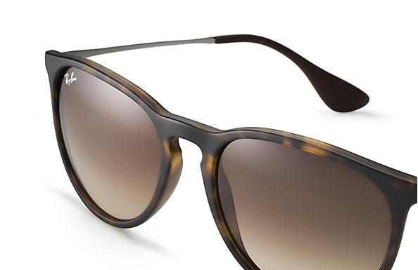 abfd4427de3 Ray-Ban Erika Classic Sunglasses with Tortoise Gunmetal Frame Brown  Gradient Lens - The Warming Store
