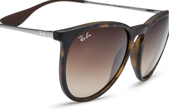 9d96ff3329 Ray-Ban Erika Classic Sunglasses with Tortoise Gunmetal Frame Brown  Gradient Lens - The Warming Store