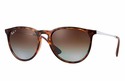 Ray-Ban Erika Classic Sunglasses with Tortoise/Gunmetal Frame/Polarized Brown Gradient Lens