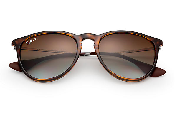 a0886479c03 Ray-Ban Erika Classic Sunglasses with Tortoise Gunmetal Frame Polarized  Brown Gradient Lens - The Warming Store