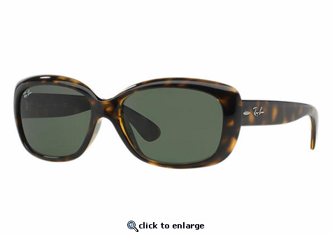 Ray-Ban Jackie Ohh Sunglasses with Tortoise Frame/Green Classic G-15 Lens