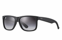 Ray-Ban Justin Classic Sunglasses with Black Frame/Grey Gradient Lens