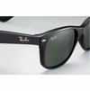 Ray-Ban New Wayfarer Classic Sunglasses with Black Frame/Green Classic G-15 Lens