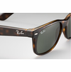 Ray-Ban New Wayfarer Classic Sunglasses with Tortoise Frame/Green Classic G-15 Lens