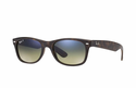 Ray-Ban New Wayfarer Classic Sunglasses with Tortoise Frame/Polarized Blue/Green Gradient Lens