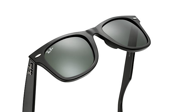 568e8d4d491 Ray-Ban Original Wayfarer Classic Sunglasses with Black Frame Green Classic  G-15 Lens - The Warming Store