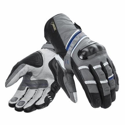 REV'IT Dominator GTX Gore-Tex Gloves - Grey/Blue