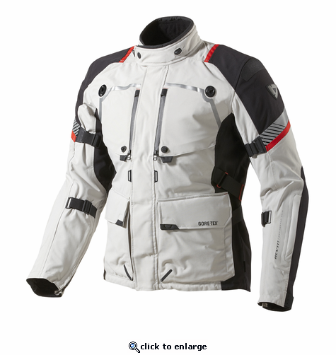 REV'IT Jacket Poseidon GTX - Light Grey/Black