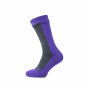 SealSkinz Hiking Mid Mid Socks - Grey/Purple