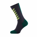 SealSkinz MTB Mid Weight Mid Length Socks with Hydrostop - Anthracite/Leaf/Lime
