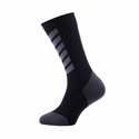 SealSkinz MTB Mid Weight Mid Length Socks with Hydrostop - Black/Charcoal/Anthracite