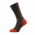 SealSkinz MTB Mid Weight Mid Length Socks with Hydrostop - DK Olive/Mud/Orange