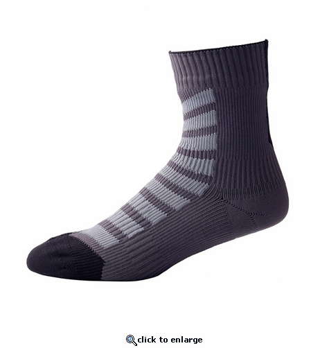 SealSkinz MTB Thin Ankle Socks with Hydrostop - Anthracite/Charcoal/Black