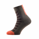 SealSkinz MTB Thin Ankle Socks with Hydrostop - DK Olive/Mud/Orange