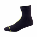 SealSkinz Road Ankle Socks with Hydrostop - Black/Illuminous