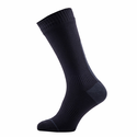 SealSkinz Road Thin Mid Length Socks with Hydrostop - Black/Grey