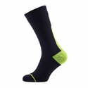 SealSkinz Road Thin Mid Length Socks with Hydrostop - Black/Illuminous