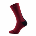SealSkinz Road Thin Mid Length Socks with Hydrostop - Red/Black