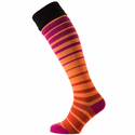 SealSkinz Thin Knee Cuff Socks - Orange/Pink/Black