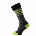 SealSkinz Thin Mid Cuff Socks - Black/Charcoal/Illuminous