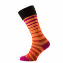 SealSkinz Thin Mid Cuff Socks - Orange/Pink/Black