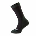 SealSkinz Trekking Thick Mid Socks - Black/Racing Green
