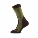 SealSkinz Trekking Thick Mid Socks - DK Olive/Golden Moss