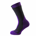 SealSkinz Trekking Thick Mid Socks - Grey/Purple