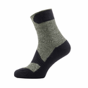 SealSkinz Walking Thin Ankle Socks - Olive Marl/Charcoal