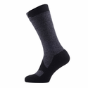 SealSkinz Walking Thin Mid Socks - Dark Grey Marl/Black