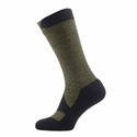 SealSkinz Walking Thin Mid Socks - Olive Marl/Charcoal