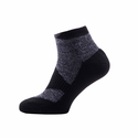 SealSkinz Walking Thin Socklet - Dark Grey/Black