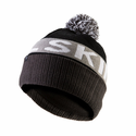 SealSkinz Water Repellent Bobble Hat - Black/Grey/White
