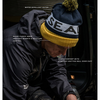 SealSkinz Water Repellent Bobble Hat - Navy/Yellow/Black