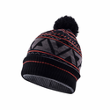SealSkinz Waterproof Bobble Hat - Black/Tarmac/Fireworks