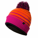 SealSkinz Waterproof Bobble Hat - Methyl Orange/Neon Coral/Fluo Pink/Black