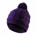 SealSkinz Waterproof Cable Knit Bobble Hat - Purple