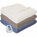 Serta Fleece Heated Blanket With Programmable Digital Controller - Full