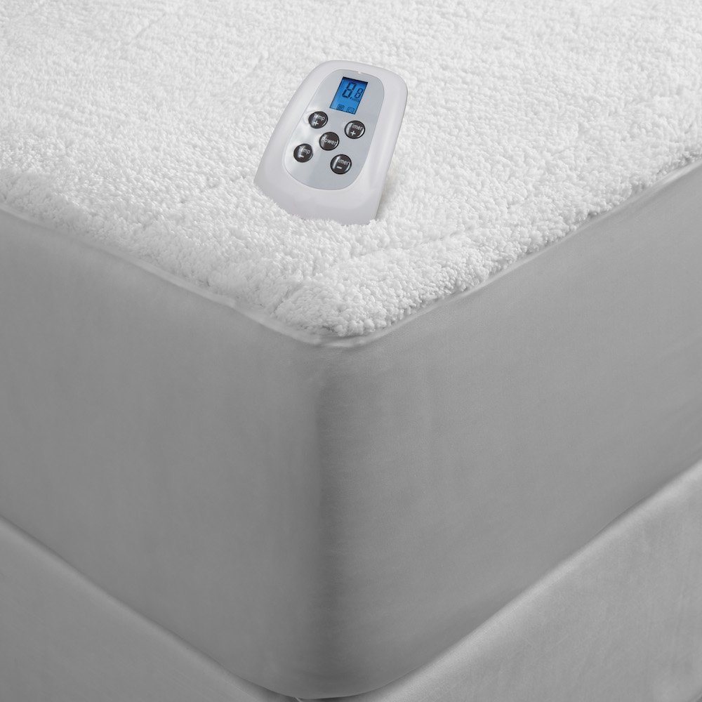 Serta Sherpa Plush Electric Heated Mattress Pad With Programmable Digital Controller Twin