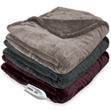 Serta Silky Plush Electric Heated Throw Blanket