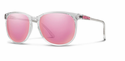 Smith Archive Mt. Shasta Sunglasses Crystal Carbonic Pink Mirror