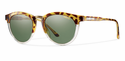 Smith Archive Questa Sunglasses Amber Tortoise Carbonic Polarized Gray Green
